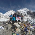 Welsh team climb to Everest Base Camp in aid of our charity