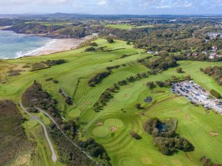 Langland Bay Golf Course drone image