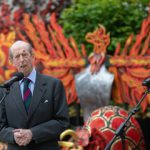 The Duke of Kent unveils garden at London's Guildhall to support The Lord Mayor's Big Curry Lunch