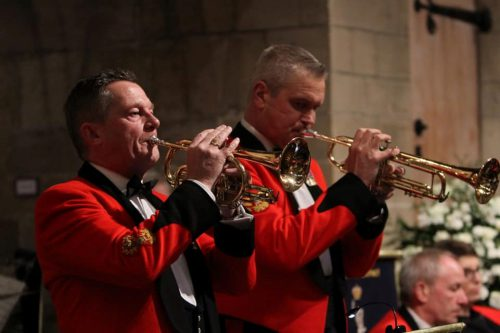 Royal Signals (Northern) Band at a previous Salute Our Heroes concert
