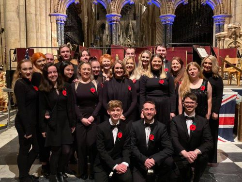 Youth Connection Theatre Company at the Festival of Remembrance Concert, Durham Cathedral